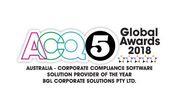 Award Seal; ACQ5 Global Awards 2018 Compliance Software Provider of the Year