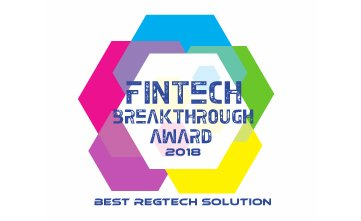 Award Seal; FinTech Breakthough Awards 2018 Best RegTech Solution