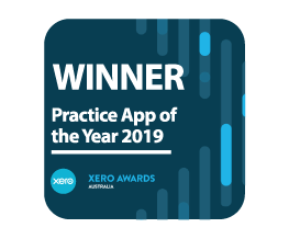 Award Seal; Xero Awards Australia 2019 Practice App of the Year